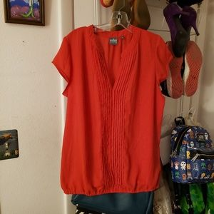 New York & Company red blouse